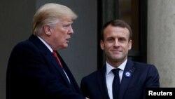 Predsednici SAD i Francuske, Donald Tramp i Emanuel Makron (arhiva)