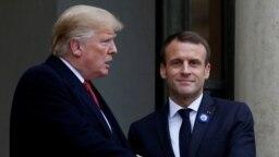 Hai ông Trump và Macron gần đây đã có lời qua tiếng lại