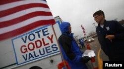 Một trung tâm bầu cử sớm ở Columbus, Ohio