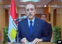 埃及副總統蘇萊曼星期五宣佈穆巴拉克辭職的消息