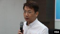 新台湾国策智库主任徐永明(美国之音杨明拍摄)