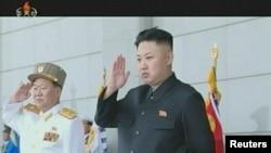 Pemimpin Korea Utara Kim Jong-un dalam salah satu penayangan program televisi pemerintah Korea Utara (Foto: dok). Korean Central Television, telah secara resmi memasuki era Facebook dengan menayangkan secara langsung program-programnya di jarinan media sosial tersebut.