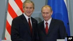 Джордж Буш и Владимир Путин
