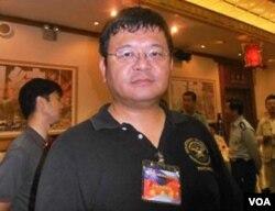 全球防衛雜誌主任 施孝瑋(美國之音 鄭裕文拍攝)