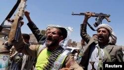 Pemberontak Syiah Houthi menguasai jalanan di ibukota Sanaa (21/9).