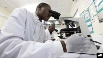 Kwararren likita yana bincike kan kwayar cutar Malaeriya a wani asibitin kasar Kenya a watan Nuwambar 2010.