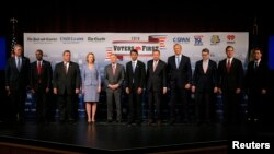 Eleven of the declared 2016 Republican U.S. presidential candidates,