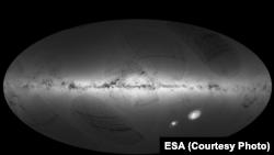 نمایی از کهکشان راه شیری.