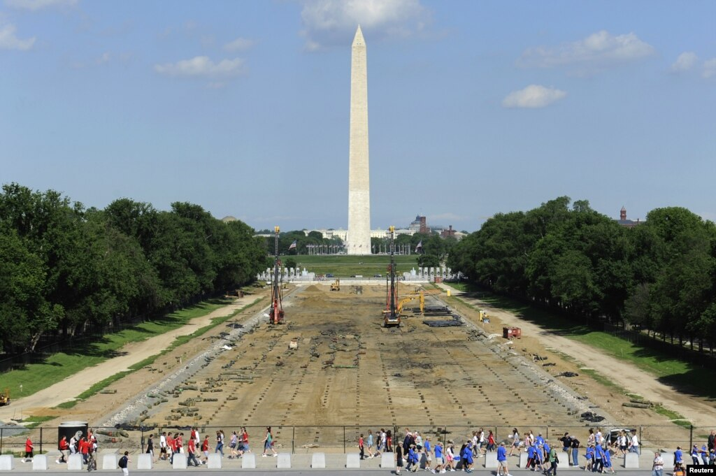 National mall construction to affect july 4 celebrations for Pool design washington dc