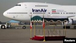 이란 국적항공사 '이란 에어' 소속 보잉 747SP 여객기.