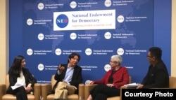 """美国国家民主基金会在""""六四""""三十周年主办论坛,探讨中国压迫模式(NED提供)"""