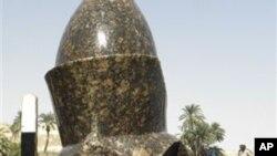 Sanamu la mfalme Ahmenhotep III wa zamani Misri ambalo mabaki yake yamegunduliwa kusini mwa nchi.