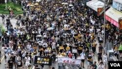 Hàng vạn người Hồng Kông đã biểu tình vì dân chủ thời gian gần đây