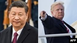 中国国家主席习近平(左),美国总统川普(右)