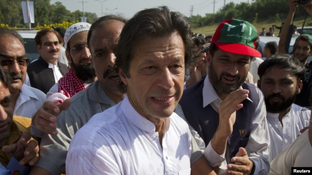 Imran Khan, cricketer-turned-politician and head of Pakistan Tehreek-e-Insaf.