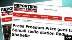 Bản tin của Phóng viên Không biên giới về Giải Tự do Báo chí