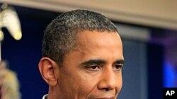 图为美国总统奥巴马7月22日在白宫发表声明
