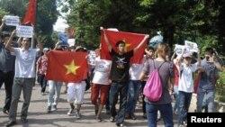 ویت نام میں چین کے خلاف مظاہرہ(فائل)