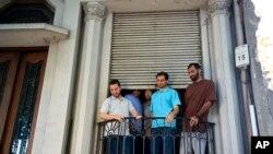 관타나모에서 풀려나 우루과이에 도착한 수감자들 (자료사진)