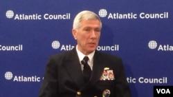 美军太平洋司令部司令洛克利尔(美国之音钟辰芳拍摄)