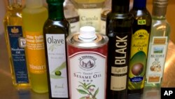 Some vegetable oils found in various countries.
