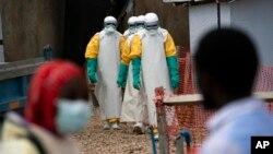 Le centre de traitement Ebola à Beni en RDC le 16 juillet 2019.