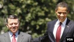Presiden Barack Obama saat menerima Raja Yordania, Abdullah di Gedung Putih (foto: dok. tahun 2009).