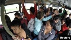 بگوٹا میں دوران بس پر سفر کا ایک منظر