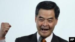 香港特區行政長官梁振英(資料圖片)