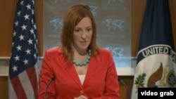 Juru bicara Kementerian Luar Negeri Amerika Serikat Jen Psaki (Foto: dok).