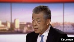 中國駐英大使劉曉明2020年7月19日接受BBC節目採訪(BBC視頻截圖)