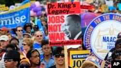 킹 목사 연설 50주년 기념 행진