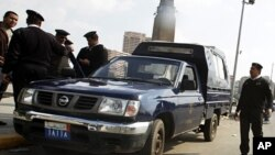 Police in Cairo, January 31, 2011