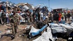 Mesto bombaškog napada u Mogadišu, Somalija 26. novembar 2016.
