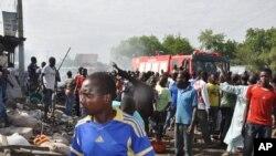 Le site d'une attaque de Boko Haram au Nigéria (AP)