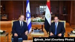 Minisitiri w'intebe wa Isirayeli, Naftali Bennett na perezida wa Misiri, Abdel Fattah al-Sissi