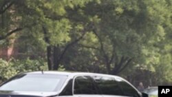 김정일 위원장이 탄 것으로 추청되는 차량 (베이징 다오위타오)