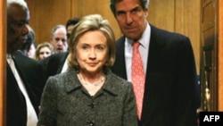 Хиллари Клинтон и Джон Керри