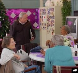 Senior citizens in Rappahannock County, Virginia, congregate at Scrabble School in Castleton, Virginia, four days a week.