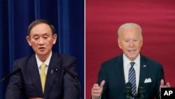 日本首相菅义伟和拜登总统