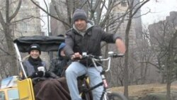 For NY Pedicab Driver, Happiness is Life on Wheels