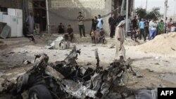 Poprište eksplozije u Iraku, 22. maj, 2011.
