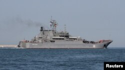 Russian Navy amphibious landing vessel Caesar Kunikov (2012 photo)