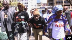 Older people in Nairobi protest on the lack of access to health care, food and medicine in 2009. (File Photo)