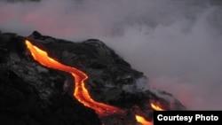 Kilauea volcano on Hawaii erupts.