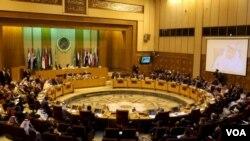 Ngoại trưởng các nước Vùng Vịnh tại phiên họp ở Cairo, Ai Cập, ngày 10//1/2016.
