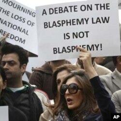 اسلام آباد: توہین رسالت قانون میں ترمیم کے خواہاں مظاہرین