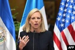 Kirstjen Nielsen, secretaria del Departamento de Seguridad Nacional de EE.UU. (DHS)
