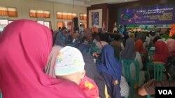 Temu Perempuan Penyintas bencana yang dilangsungkan di aula gedung Inspektorat Provinsi Sulawesi Tengah (3/12/2019) Foto : Yoanes Litha