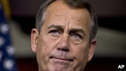 Chủ tịch Hạ viện John Boehner đổ lỗi cho Tổng thống Obama, không phải các đảng viên Cộng hòa tại Hạ viện đã không chịu đồng ý với một thỏa thuận